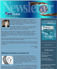 Newsletter # 1, 24 de abril de 2009