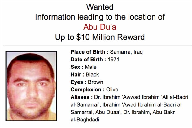 U.S.reward for Abu Bakr Baghdadi the ISIS leader