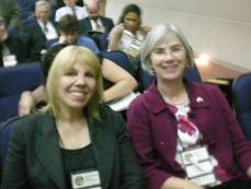 Irma Arguello and Susan Burk at the Rio de Janiero's Nuclear Nonproliferation and Disarmament - The Future of the NPT